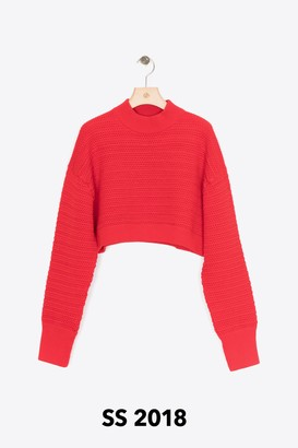 3.1 Phillip Lim Faux-Plaited Cropped Pullover