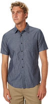 Hurley Lenny Short Sleeve Mens Shirt Blue