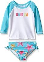Nautica Little Girls' Starfish Rashguard Set