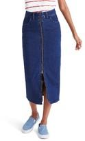 Madewell Women's Zip Front Denim Midi Skirt