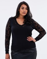 Jumper with Lace Sleeves