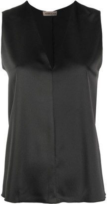 Blanca Vita Sleeveless V-Neck Blouse
