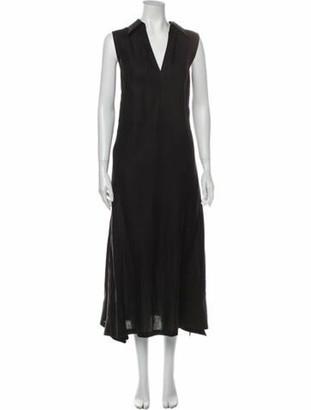 Max Mara Linen Long Dress Black