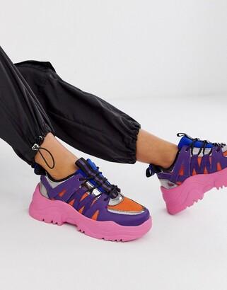 ASOS DESIGN Desert Daze chunky sneakers in ombre