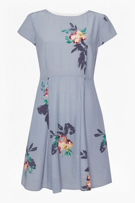 French Connection Delphine Drape Skater Dress