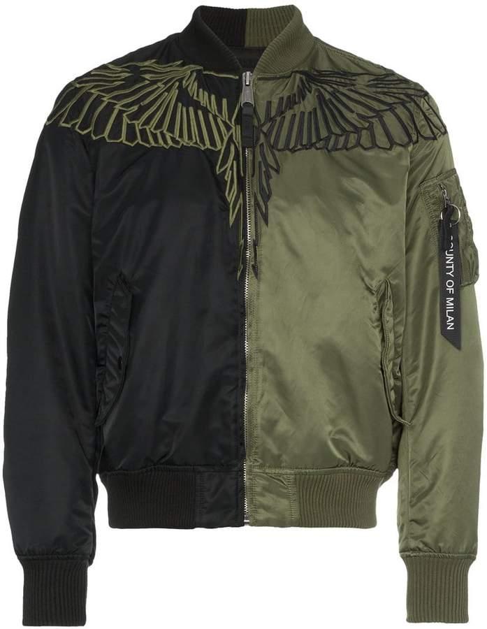 Marcelo Burlon County of Milan wings alpha bomber jacket