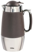 Trudeau Board Room 1 Liter Carafe - Brown Leatherette and Stainless Steel by