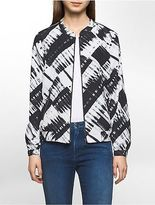 Calvin Klein Womens Abstract Bomber Jacket