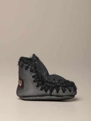 Mou Eskimo Infant Ankle Boot In Micro Glitter Sheepskin