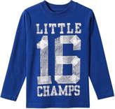 Joe Fresh Toddler Boys' Graphic Long Sleeve Tee, Bright Blue (Size 3)