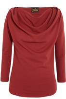 Vivienne Westwood Amber Draped Jersey Top - Merlot