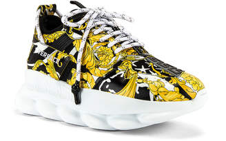 Versace Sneaker in Black & Gold | FWRD