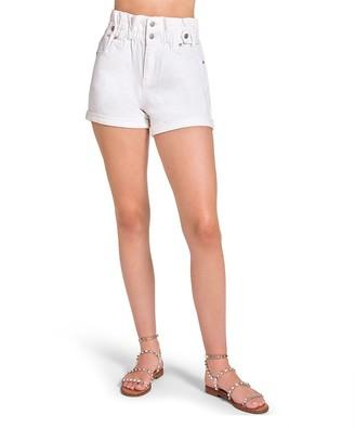 Steve Madden Paper Bag Shorts White