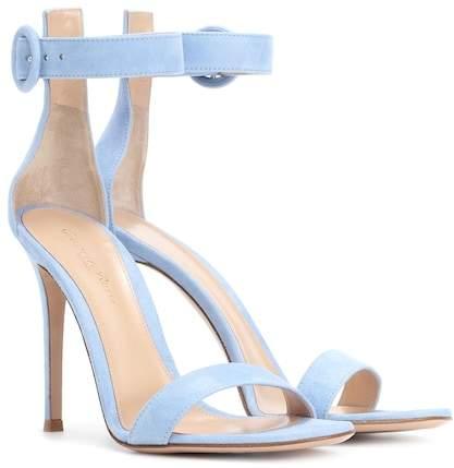 Gianvito Rossi Exclusive to mytheresa.com – Portofino 105 suede sandals