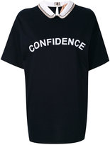 No.21 confidence print T-shirt - women - Silk/Cotton/Acetate - 42