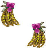 Elizabeth Cole Gone Bananas Statement Earrings in Yellow.