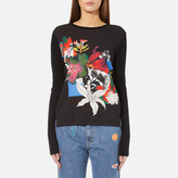 Paul Smith Women's Floral Long Sleeve Top Black