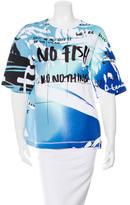 Kenzo Abstract Print No Fish Sweatshirt w/ Tags