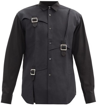 Comme des Garçons Shirt Buckled Cotton-pique Shirt - Black