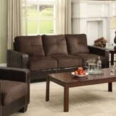 """Hokku Designs Townsend 79"""" Square Arm Sofa Upholstery Color: Chocolate"""