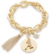 RJ Graziano A Initial Chain-Link Charm Bracelet