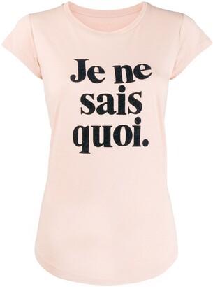 Zadig & Voltaire Zadig&Voltaire cap sleeve slogan print T-shirt