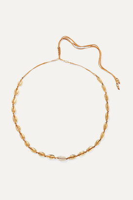 Tohum Small Puka Gold-plated And Shell Necklace - one size
