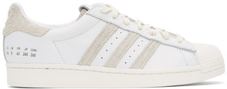 adidas White and Grey Superstar Sneakers