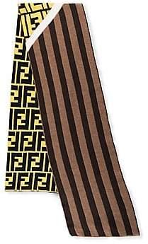 Fendi Men's Striped Wool Fleece Scarf
