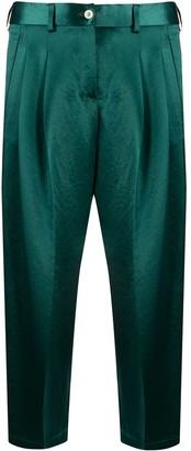 Jejia High-Waisted Cropped Trousers