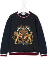 Dolce & Gabbana crest print jumper