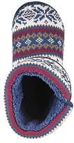Fairisle Knitted Slipper Boot Standard Fit