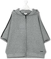 DKNY contrast trim hoodie