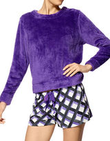 Hue Two-Piece Hashtag Plaid Fleece Shirt and Boxer Set