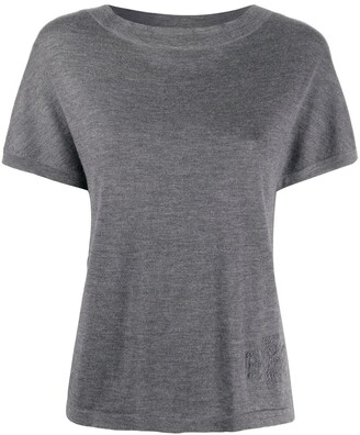 Barrie knitted cashmere T-shirt