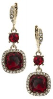 Givenchy Women's Cushion Crystal Drop Earrings