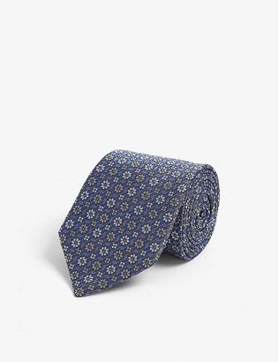 Lanvin Floral-jacquard silk tie