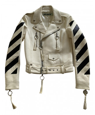 Off-White White Leather Jackets