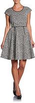 Rachel Zoe Iryna Snow Leopard Fit-And-Flare Dress
