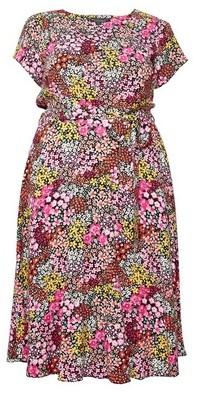 Dorothy Perkins Womens Billie & Blossom Curve Pink Floral Print Midi Dress, Pink