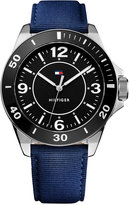 Tommy Hilfiger Men's Table Blue Nylon Strap Watch 45mm 1791285