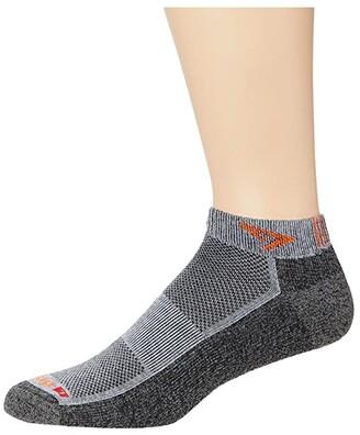 Drymax Sport Extra Protection Running Mini Crew 1-Pair (Heathered Gray/Graphite/Orange) Crew Cut Socks Shoes