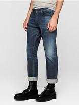 Calvin Klein Jeans Slim Straight Dark Indigo Blue Selvedge Jeans