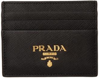Prada Black Saffiano Card Holder