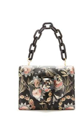 Oscar de la Renta Printed Leather Mini TRO Bag