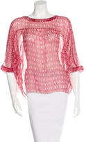 Etoile Isabel Marant Abstract-Print Shear Blouse