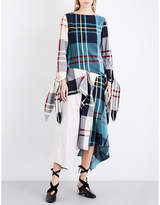 J.W.Anderson Patchwork check woven top