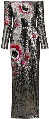 Temperley London Magnolia off-the-shoulder dress