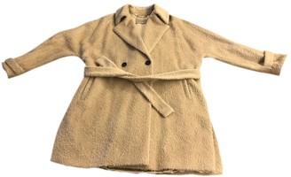 Marella Beige Wool Coat for Women