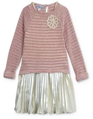 Pippa & Julie Girls' Chenille Top & Pleated Metallic Dress Set - Baby
